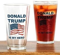 CafePress Donald Trump Is My Hero Pint Glass, 16 oz. Drinking Glass