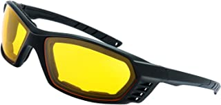 Motorcycle Riding Glasses Padded Frame Lens Block 100% UVB for Outdoor Activity Sport