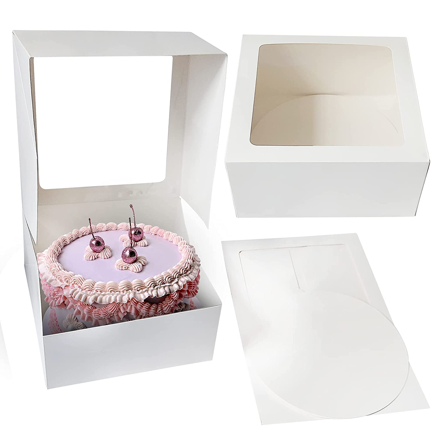 Cake Max 43% OFF Boxes Combo Set of 10 White - Inches P San Diego Mall Bakery 10x10x5