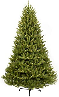 Puleo International 9 Foot Pre-Lit Fraser Fir Artificial Christmas Tree with 1,000 Clear Lights, Green