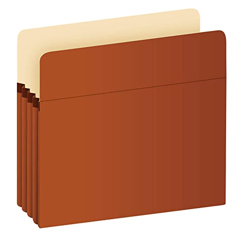 "Pendaflex Expanding File Pockets, Letter Size, Redrope, 3.5"" Expansion, Reinforced with DuPont Tyvek Material, Redrope, 25 per Box (1524E-OX)"