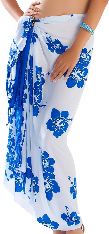 1 World Sarongs Womens Polynesian Floral Swimsuit Sarong