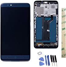 Dr.Chans LCD Display Screen Touch Digitizer Assembly Replacement with Free Tools for ZTE Grand X Max 2 Z988 Blue with Frame