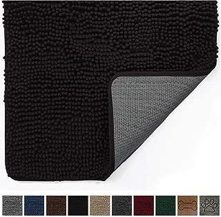 black entry rug