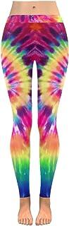 INTERESTPRINT Custom Boho Ethnic Tribal Stretchy Capri Leggings Skinny Pants for Yoga Running Pilates Gym(2XS-5XL)