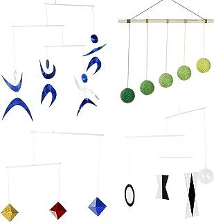 Hand Made Set of 4 x Montessori Mobiles - Munari, Green Gobbi, Dancers Mobile, Octahedron. Montessori Mobile. Tetrahedron...