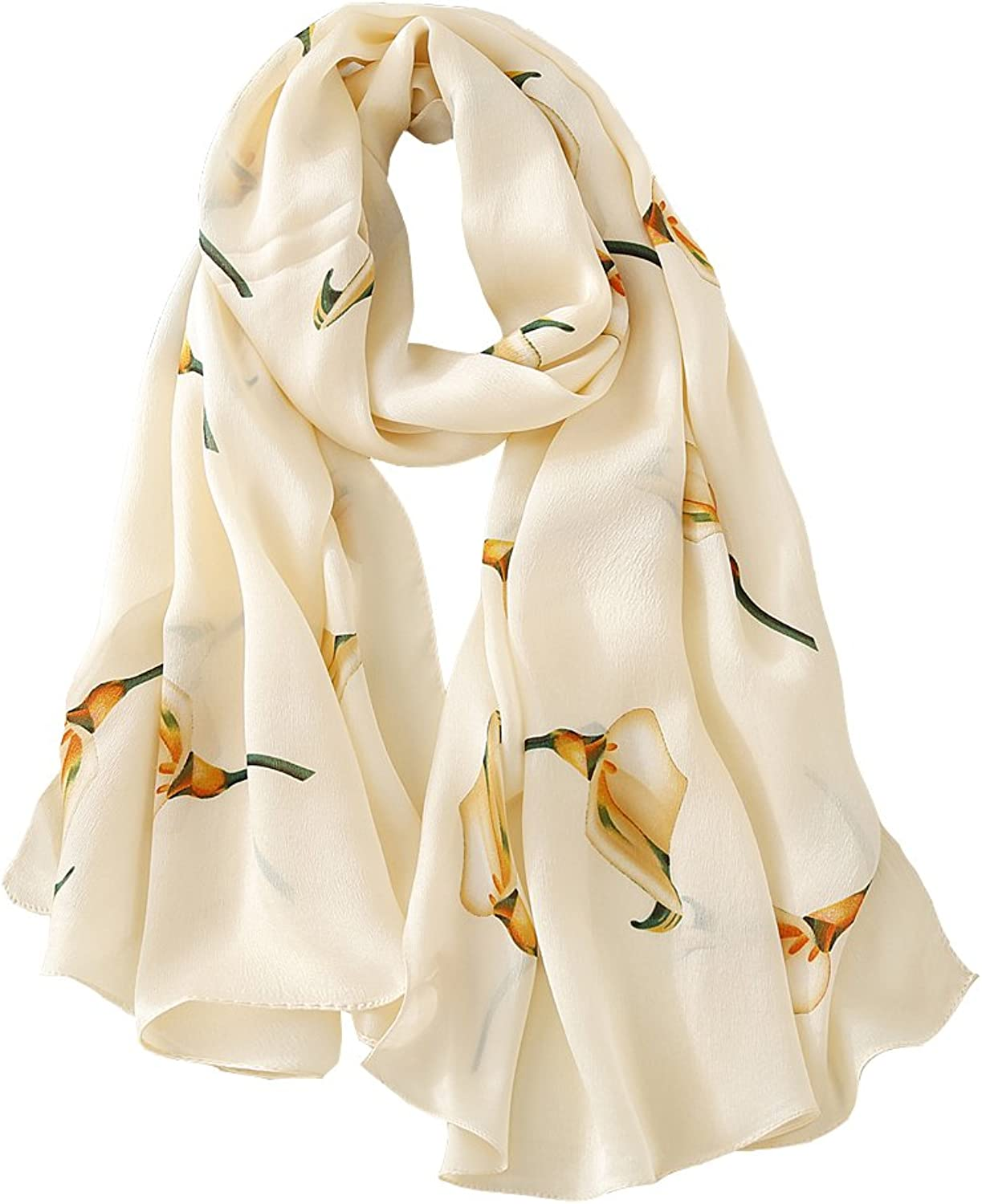 JIMINCI Womens Fashion Scarf 100% Silk Scarf