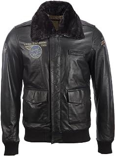 comprar comparacion Aviatrix Chaqueta De Piloto De Aviador De Cuero Autentica Muy Elegante para Hombres con Insignias Especiales (VGS3)