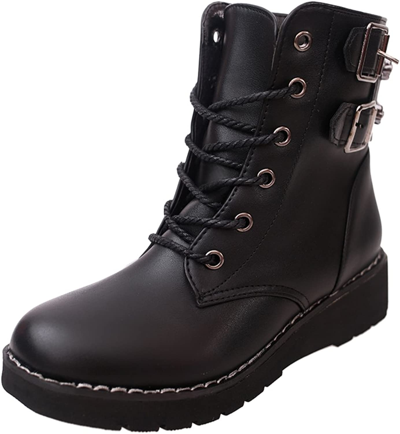 RHFDVGDS Lady short boots England wind Martin boots European and American retro short tube thickness in autumn and winter boots