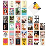 NobleWorks - 36 Funny Mixed Occasion Cards Boxed - Adult Bulk Notecard Assortment, Fun Cartoon Greeting Cards - Bestselling Laughs Collection AC6669XXG-B1x36