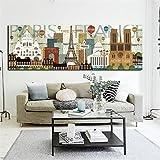 KWzEQ Mural de Arte Moderno para la decoración del hogar de la Sala de Estar,Pintura sin Marco,30x90cm