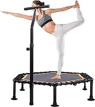Fitness Trampoline Voor Volwassenen, Opvouwbare Trampoline Met Verstelbare Leuning, Rebounder Trampoline Training Voor Kin...