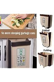 TAZEMAT Soporte para Bolsa de Basura Contenedor Simple para Reciclaje de Basura Colgar en Caj/ón Puerta de Armario Soporte Colgante de Acero Inoxidable para Residuos en Cocina Oficina