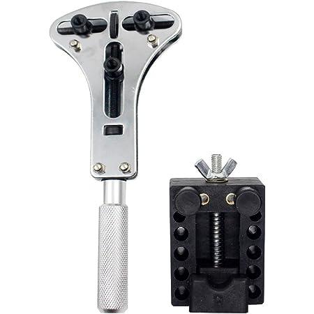 【HappyHome】時計工具 電池交換 3点支持 裏蓋オープナー 固定用台座 セット