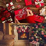 Camelize Stück Holz Weihnachten Deko Weihnachten Holzanhänger Weihnachstbaum Schmuck Natürlicher Christbaum-Behang für Weihnachten Geschenke DIY Handwerk Basteln - 5