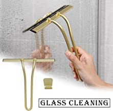 Abzieher Dusche Edelstahl Fensterglas Scraper Silikagel Reinigungswerkzeug F/ür Automobilglas Glas Wohnzimmer circulor Duschabzieher