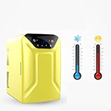 Hqadd 15 Litre Mini Fridge Cooler and Warmer with Digital Display Car Home Dual-Use Refrigerator Freezing,Yellow