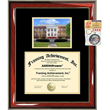 Signature Announcements Old Dominion University Undergraduate Sculpted Foil Seal Graduation Diploma Frame 16 x 16 Matte Mahogany