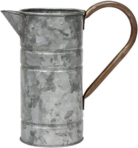 Stonebriar Conservatory Antique Galvanized Metal Watering Can With Handle
