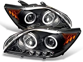 ACANII - For 2005 2006 2007 Scion tC LED Halo Ring Black Housing Projector Headlights Headlamps, Driver & Passenger Side