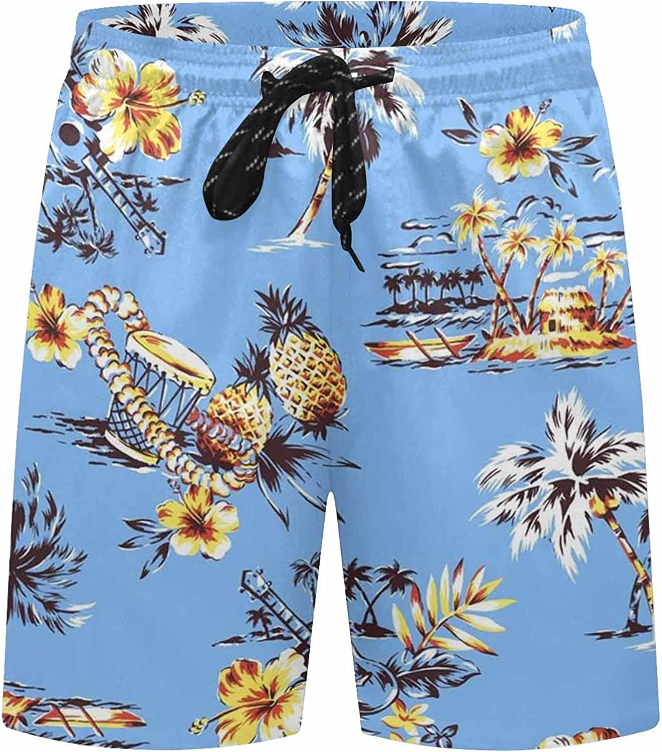 InterestPrint a Tree with Flying Birds Boardshort Swim Trunks for Men Beach Quick Dry Swimming Shorts