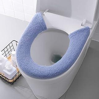 Rosa Queta 2 PCs WC Sitzbez/üge W/ärmer WC-Sitzbezug WC-Sitz-Pad WC-Sitz Toilettensitzabdeckung Verdickte Toiletten Sitzbezug Sitz Deckel Waschbar