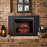 GreatCo Gallery Zero-Clearance Series Insert Electric Fireplace (GI-32-ZC-IS-42-ZC-IS-42-ZC-B), 42-Inch Surround with 4-Inch High Bottom Piece
