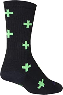 SockGuy, Medicine, Crew Sock, Sporty and Stylish, 6 Inches - Small/Medium