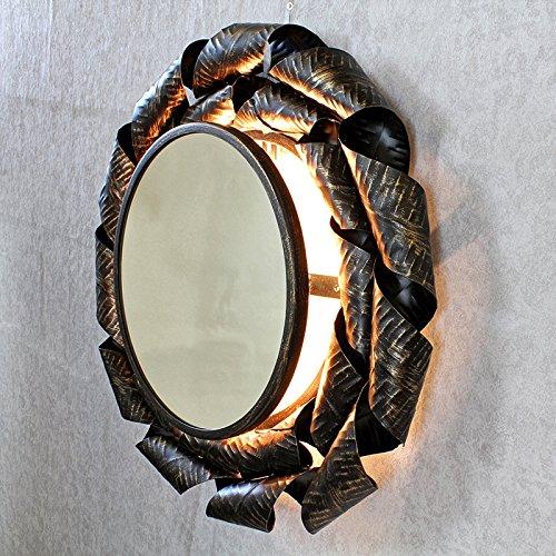 Afrodyta Cuivre Antique Miroir Applique murale à rayons de soleil en G Décor Mir-12