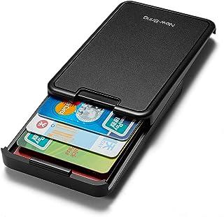 NewBring Automatic Pop Up RFID Blocking Wallets for Men Credit Card Holder Slim Wallet, Front Pocket Card Case Holder (Black)