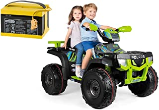 Peg Perego - Polaris Sportsman XP850 with Additional Battery and Charger - Grey/Lime