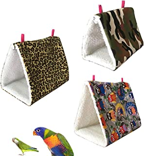 Sanwooden Funny Pet Hammock Hammock Mini Winter Warm House for Pet Bird Parrot Squirrel Hanging Bed Toy Pet Supplies