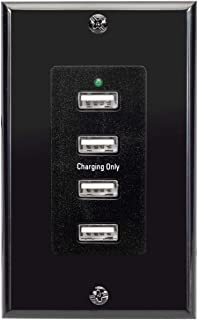 Magnadyne WC-USB-B 12V Wall Mount USB Charging 4 Ports 12-16V DC Input Included with Wall Plate