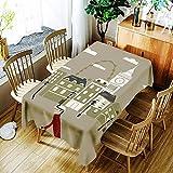 XXDD Mantel de Loto 3D Fondo Puro Flor de Diente de león y patrón de niña Cubierta de Mantel Impermeable y a Prueba de Polvo A4 135x135cm