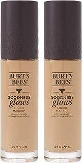 Burt's Bees Goodness Glows Liquid Makeup, Natural Beige - 1.0 Ounce (Pack of 2)