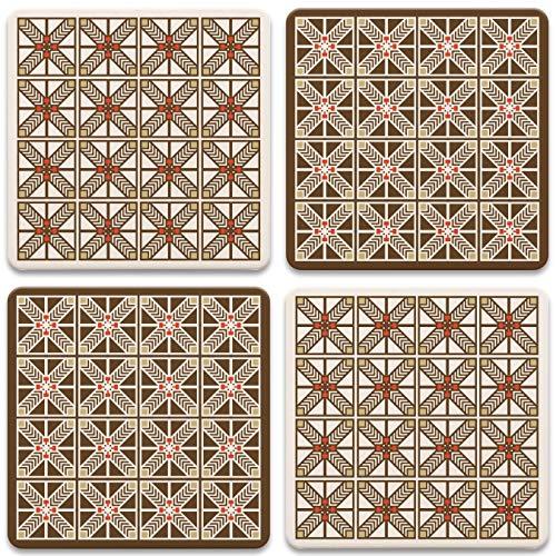 CoasterStone AS751 Untersetzer Frank Lloyd Wright Robie, Einheitsgröße, mehrfarbig, 4 Stück