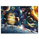 Puzzle 1000 Piezas, PTN Rompecabezas de Planetas en el Espacio, Juguete De Regalo Ideal, Puzzle Educational Game Juguete para Aliviar Estrés Juego Intelectual Cerebro Desafío (Size 70 * 50cm)