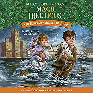 Hurricane Heroes in Texas     Magic Tree House Series, Book 30              Written by:                                                                                                                                 Mary Pope Osborne                               Narrated by:                                                                                                                                 Mary Pope Osborne                      Length: 1 hr and 13 mins     1 rating     Overall 5.0