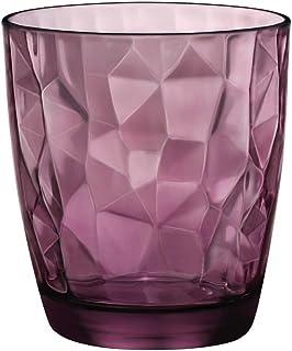 Bormioli Rocco 3er-Set Wassergläser Diamond violett