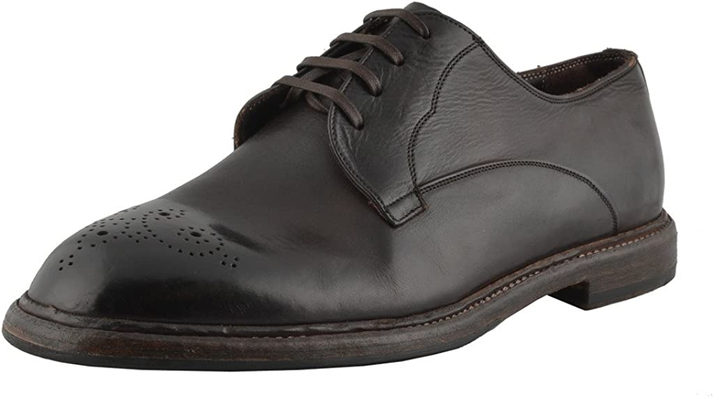 Dolce & Gabbana Men's Brown Leather Oxfords Shoes