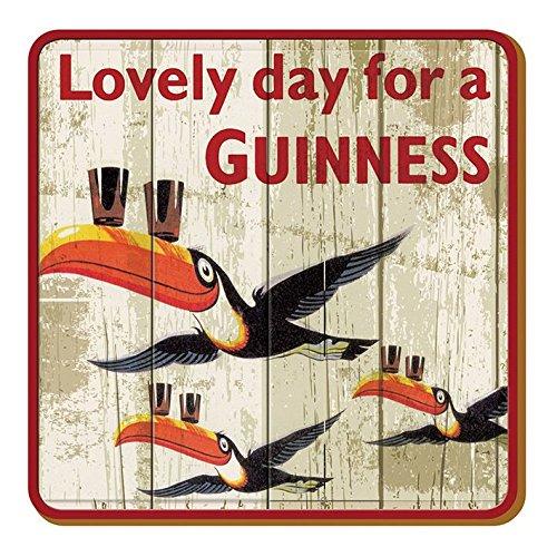 McLaughlin's Irish Shop Guinness - Sottobicchieri in legno, effetto usato, Flying Toucans