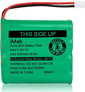 iMah Rechargeable Ni-MH AAA Size 4.8V 800mAh Battery 29580-10 29270-10 Compatible with Summer Infant Wide View 2.0 Baby Vi...