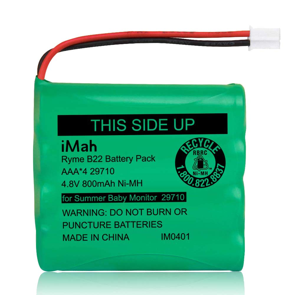Replacement Battery 29580-10 for Summer Infant Baby Monitor 29580 29590 29610 29620 29630 29710 29740 29790 29940, Ni-MH AAA Size 4.8V 800mAh Rechargeable