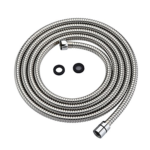 Purelux Shower Head Hose 118 Inches (3 Meters or approx. 10 Feet) Extra Long Handheld Showerhead Extension, Universal Replacement Made of Stainless Steel Polished Chrome