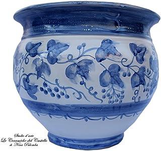 GICOS IMPORT EXPORT SRL Vaso Basso Cachepot in Ceramica 20 7 cm Colore Bianco arredo Shabby Chic OXO-732423