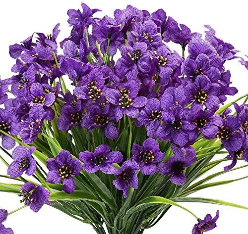 Flores Artificiales Exterior Macetas flores artificiales  Marca Ancokig