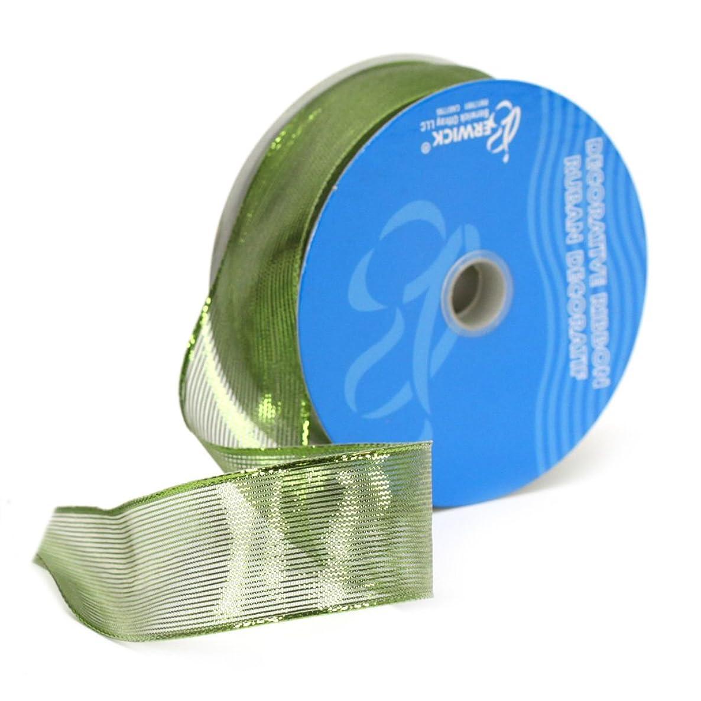 Berwick X00104-09050-B019 1-1/2-Inch Wide by 50 Yard Spool Wired Edge Meissa Craft Ribbon, Citrus