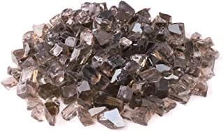 KIBOW 10-Pound Pack 1/2 Inch Reflective Crushed Fire Glass for Gas Fire Pit/Fire Table-Bronze
