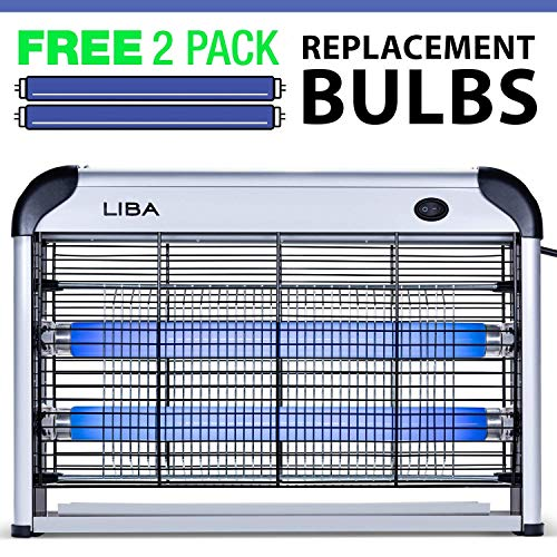 LiBa Bug Zapper Electric Indoor Insect Killer Mosquito, Bug, Fly Killer - Powerful 2800V Grid 20W...