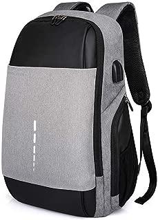 Business Laptop Backpack Men's Casual Ouble Shoulder School Bag. (Color : Grey)